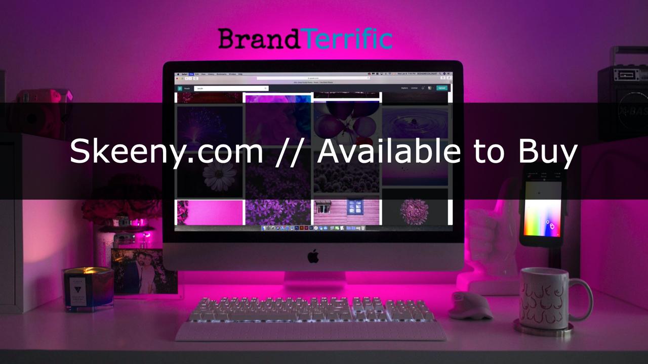 Skeeny.com For Sale // Popular Name